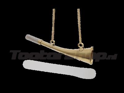 Gekrümmtes Messingschiffhorn 23cm